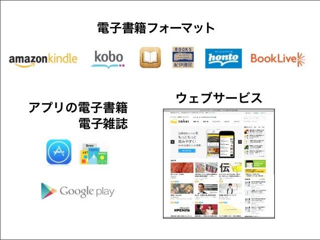 電子書籍フォーマット  アプリの電子書籍 電子雑誌  ウェブサービス
