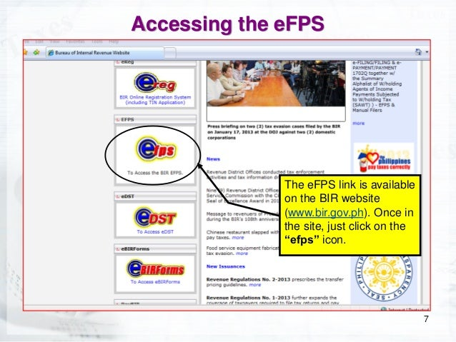 Electronic filing and payment system coaching session for entrepreneu how to access efps 7 spiritdancerdesigns Image collections