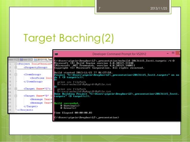 7  Target Baching(2)  2013/11/25