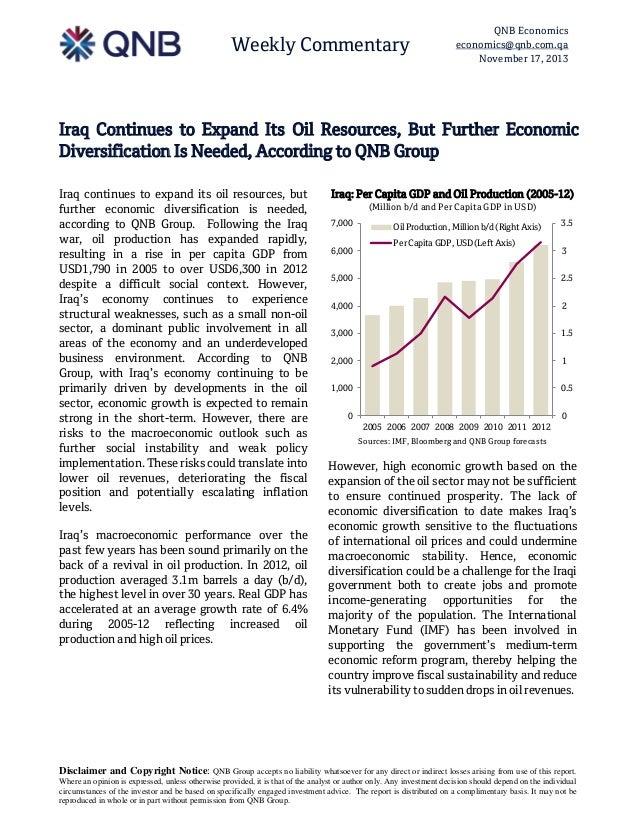 Weekly Commentary  QNB Economics economics@qnb.com.qa November 17, 2013  Iraq Continues to Expand Its Oil Resources, But F...