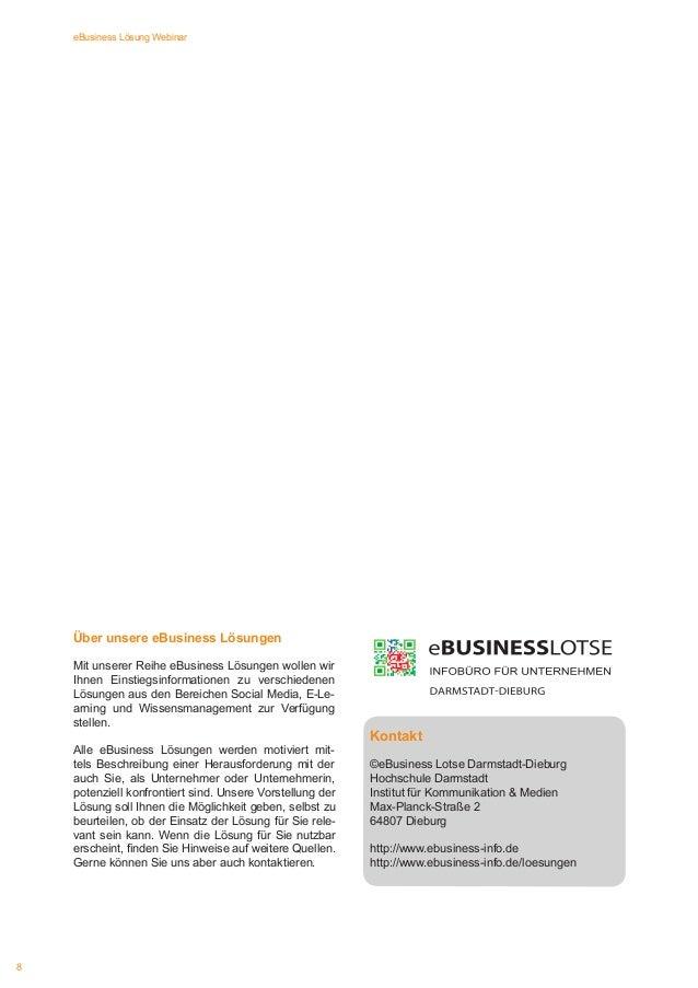 eBusiness Lösung Webinar  Über unsere eBusiness Lösungen Mit unserer Reihe eBusiness Lösungen wollen wir Ihnen Einstiegsin...