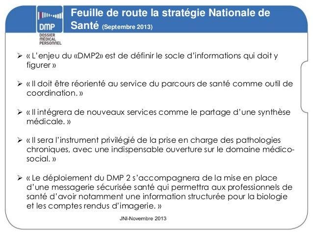 """2013-11-21 ASIP Santé JNI """"DMP"""" Slide 2"""