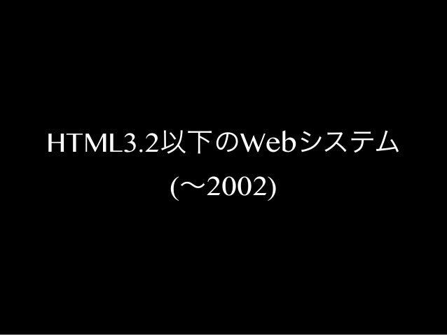 HTML3.2以下のWebシステム (∼2002)