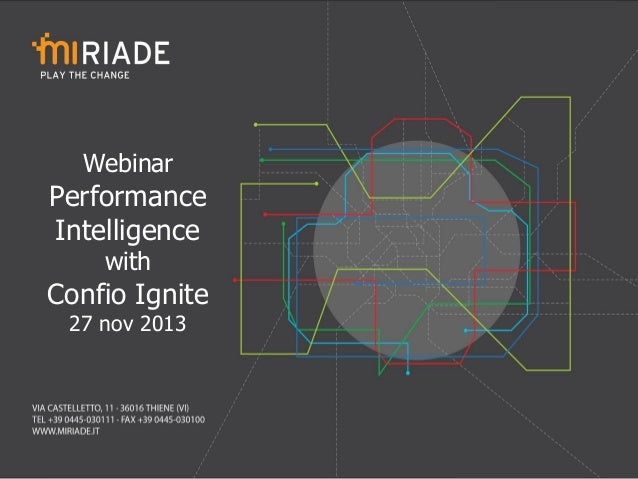 Webinar  Performance Intelligence with  Confio Ignite 27 nov 2013