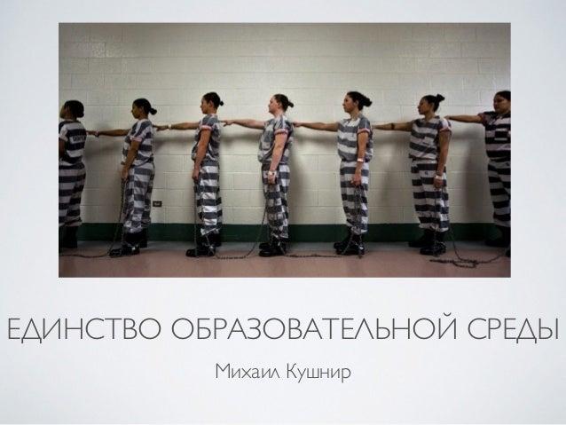 ЕДИНСТВО ОБРАЗОВАТЕЛЬНОЙ СРЕДЫ  Михаил Кушнир