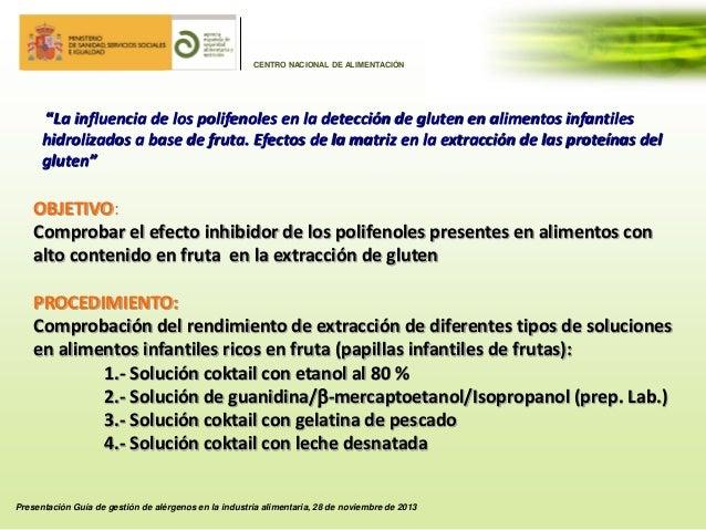20131128 ggal rgenos detecci n de al rgenos en alimentos actuaciones - Alimentos ricos en gluten ...