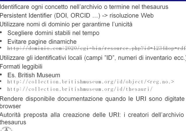 "o  Valore 1234 ""Vaso tal dei tali""  Ontologie Thesauri LOD  Reperto Archeologico  to a  Prato  ervato  Museo Archeologico ..."