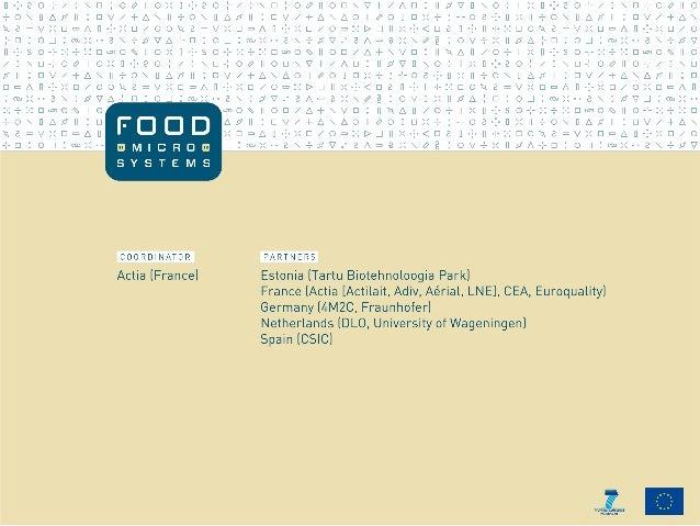 FoodMicroSystems A Roadmap Towards Applications in the Food Industry Workshop – Madrid (Spain), 29 November 2013 Christoph...