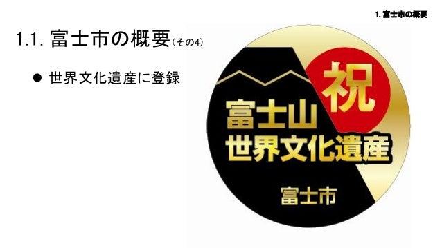 1. 富士市の概要  1.1. 富士市の概要(その4)  世界文化遺産に登録