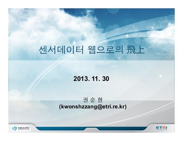 2013. 11. 30 권순현 (kwonshzzang@etri.re.kr)