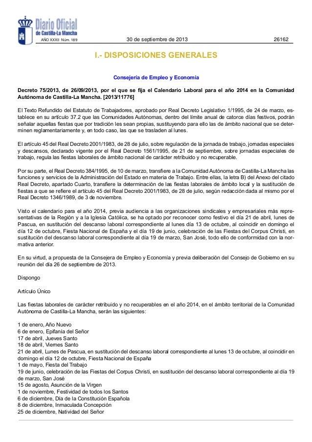 AÑO XXXII Núm. 189  30 de septiembre de 2013  26162  I.- DISPOSICIONES GENERALES Consejería de Empleo y Economía Decreto 7...