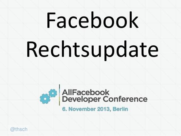 Facebook Rechtsupdate  @thsch