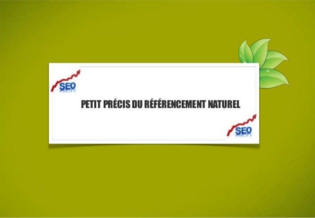 PETIT PRÉCIS DU RÉFÉRENCEMENT NATUREL