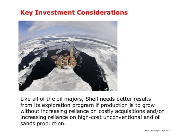 Key Investment Considerations  Like all of the oil majors, Shell needs better results from its exploration program if prod...