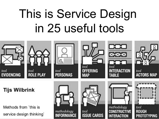 This is Service Design in 25 useful tools  Tijs Wilbrink Methods from `this is service design thinking`