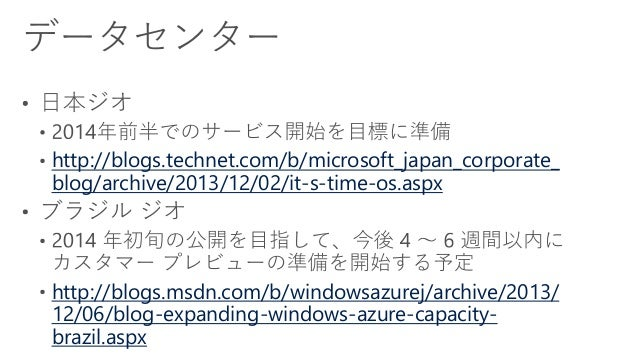 [Azure Council Experts (ACE) 第2回定例会] Windows Azureアップデート情報 (201311/24-2013/12/06) Slide 3