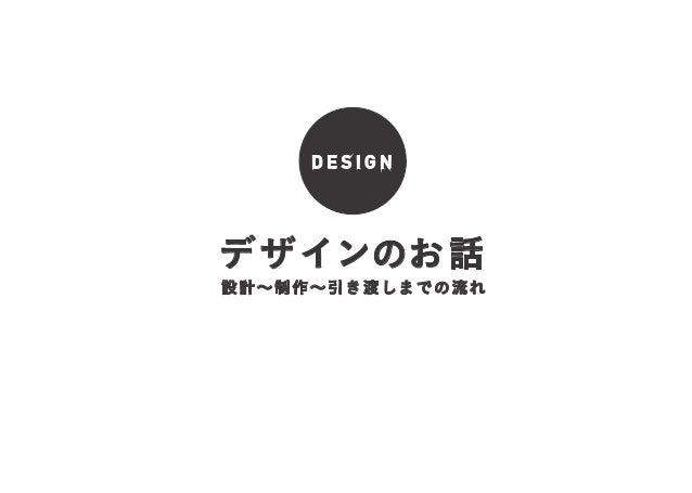 DESIGN  デ ザインのお話  設計∼制作∼引き渡しまでの流れ