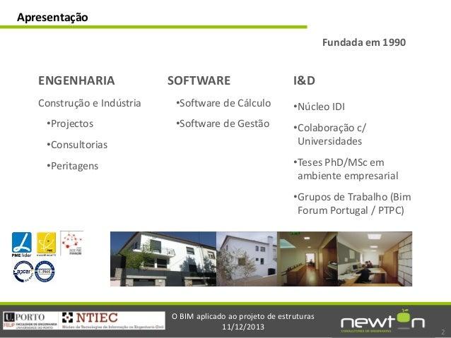Sessão Introdução ao BIM: Eng. José Carlos Lino Slide 2