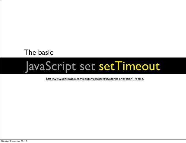 JavaScript & Animation