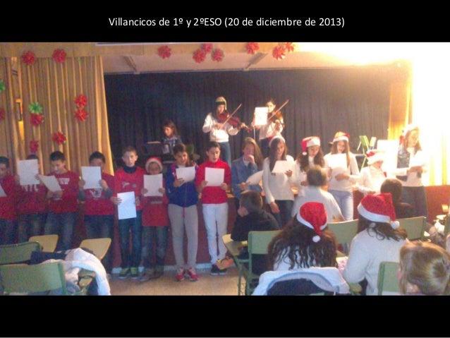 Villancicos de 1º y 2ºESO (20 de diciembre de 2013)