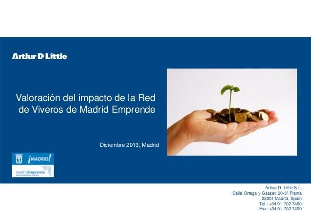 Valoraci n del impacto de la red de viveros de madrid - Viveros de madrid ...