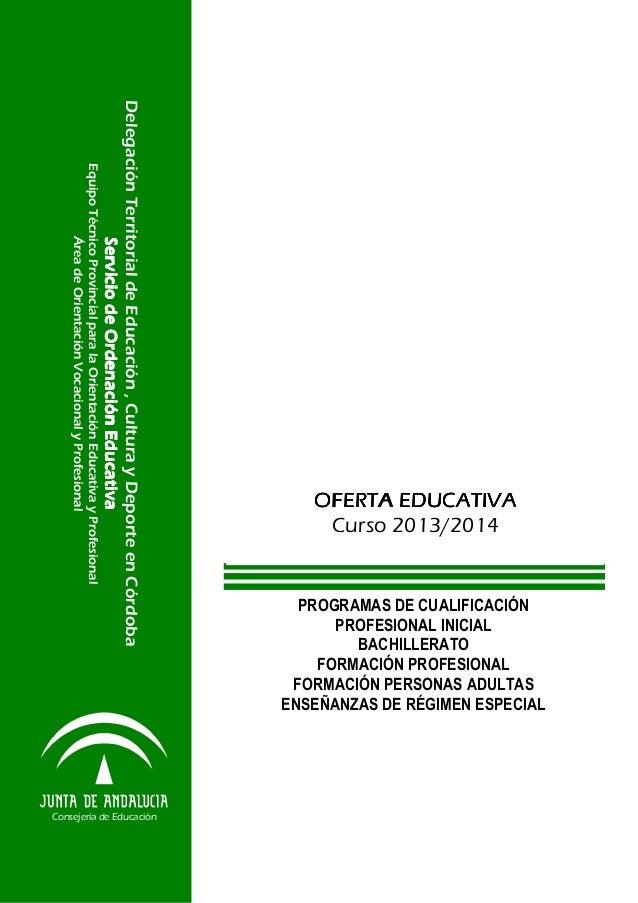 PROGRAMAS DE CUALIFICACIÓN PROFESIONAL INICIAL BACHILLERATO FORMACIÓN PROFESIONAL FORMACIÓN PERSONAS ADULTAS ENSEÑANZAS DE...