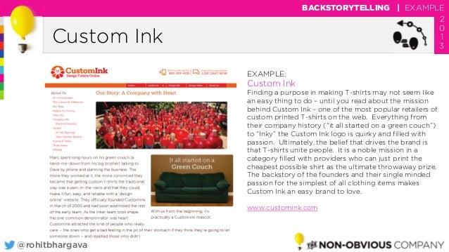 980aca521 @rohitbhargava Custom Ink BACKSTORYTELLING