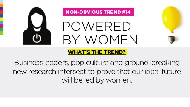 @rohitbhargava POWERED NON-OBVIOUS TREND #14 WHAT'S THE TREND? Business leaders, pop culture and ground-breaking new resea...