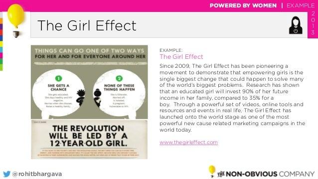 @rohitbhargava The Girl Effect POWERED BY WOMEN | EXAMPLE 2 0 1 3 EXAMPLE: The Girl Effect Since 2009, The Girl Effect has...