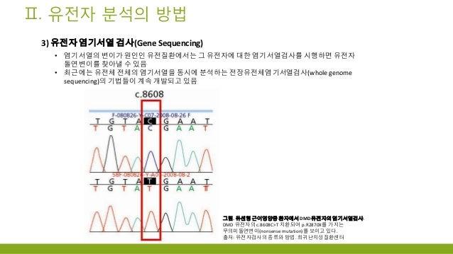 유전자 분석시장 개요 및 동향 2013년 4월