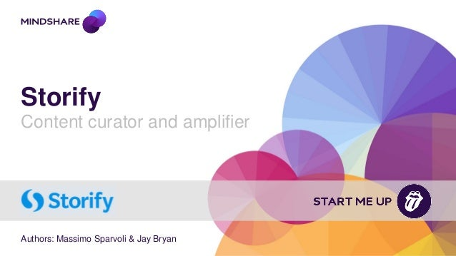 Storify Content curator and amplifier Authors: Massimo Sparvoli & Jay Bryan
