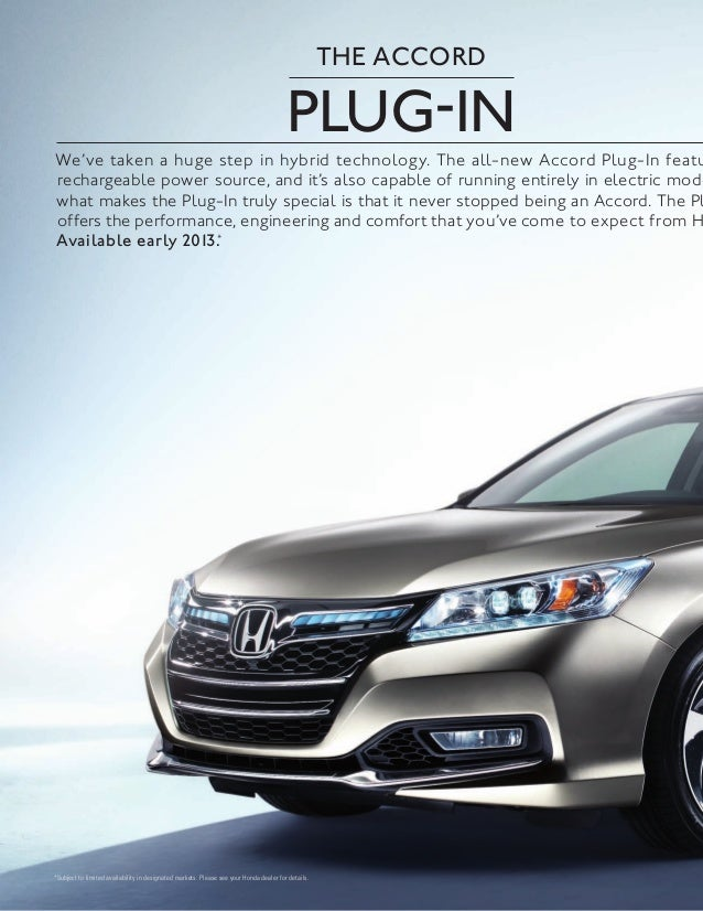2013 Honda Accord Brochure