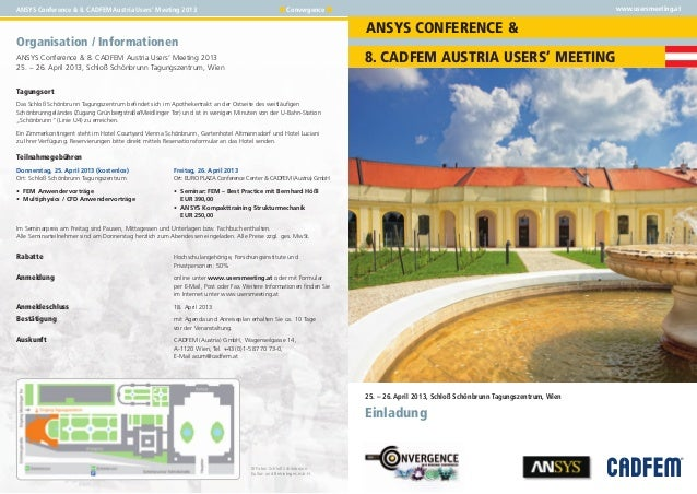 ANSYS Conference & 8. CADFEM Austria Users' Meeting 2013                                           ■ Convergence ■        ...