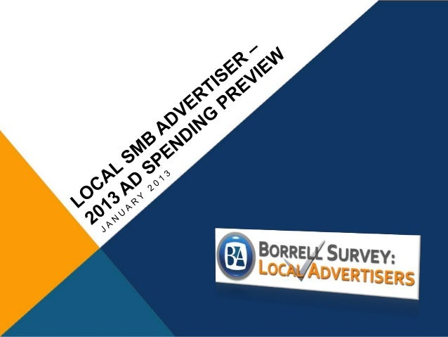 About this data The following slides offer a few highlights from Borrell's Q4 2012 SMB survey. The full set of results are...