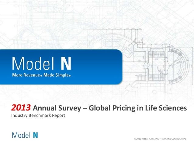 2013 Annual Survey – Global Pricing in Life Sciences Industry Benchmark Report  ©2013 Model N, Inc. PROPRIETARY & CONFIDEN...