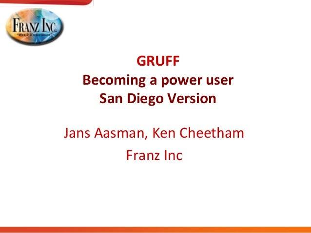 GRUFFBecoming a power userSan Diego VersionJans Aasman, Ken CheethamFranz Inc