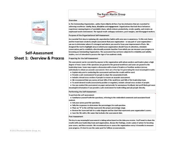 Self‐Assessment      Sheet3:Scorecard©2013TheKarenMartinGroup,Inc.