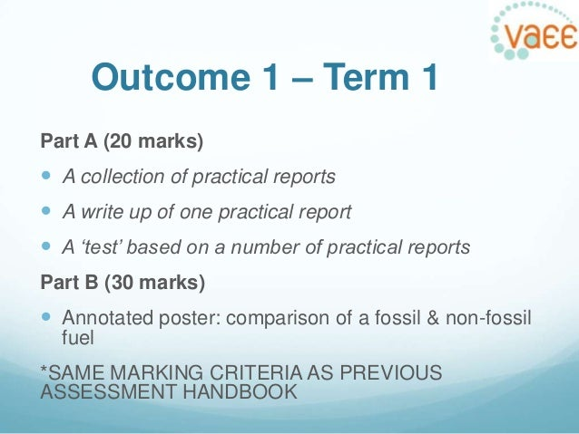 how to write a practical report vce
