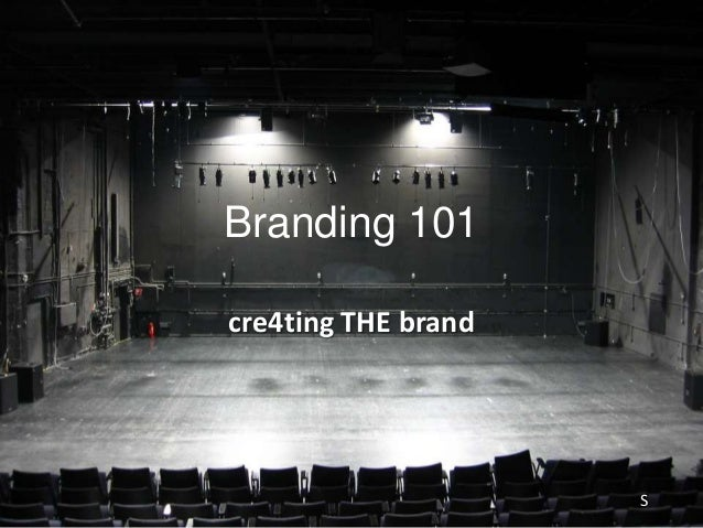 Branding 101cre4ting THE brandS