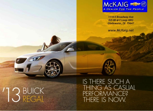 Is there such a'31             thIng as casual     BuIcK   performance?     regal   there Is now .