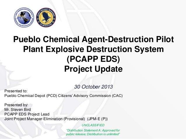 Pueblo Chemical Agent-Destruction Pilot Plant Explosive