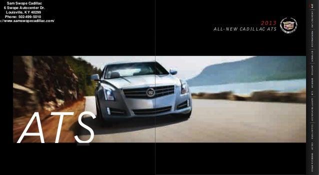 2013 Cadillac Ats Brochure Ky Louisville Cadillac Dealer