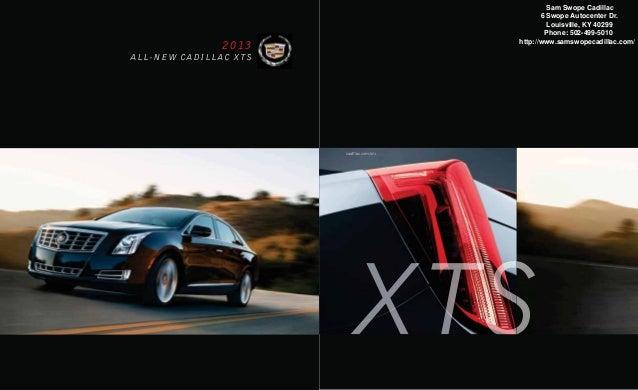 2013 Cadillac Xts Brochure Ky Louisville Cadillac Dealer