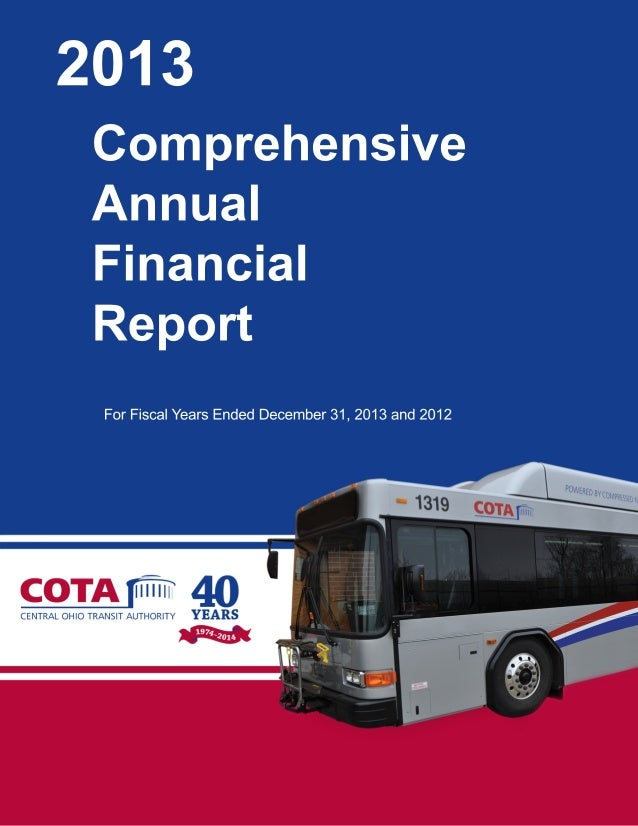 2013 Comprehensive Annual Financial Report For Fiscal Years Ended December 31, 2013 and 2012