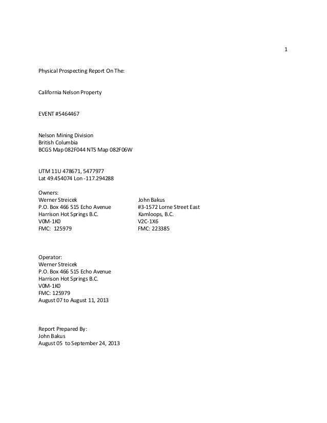 2013 california gold nelson British Columbia MLS Mining prospecting r…