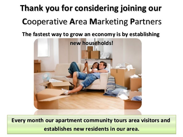 Thank you for considering joining our Cooperative Area Marketing Partners The fastest way to grow an economy is by establi...