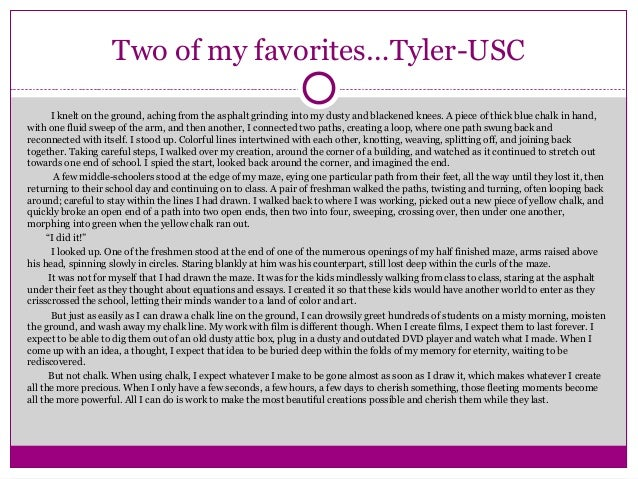 College essay prompts 2013 usc