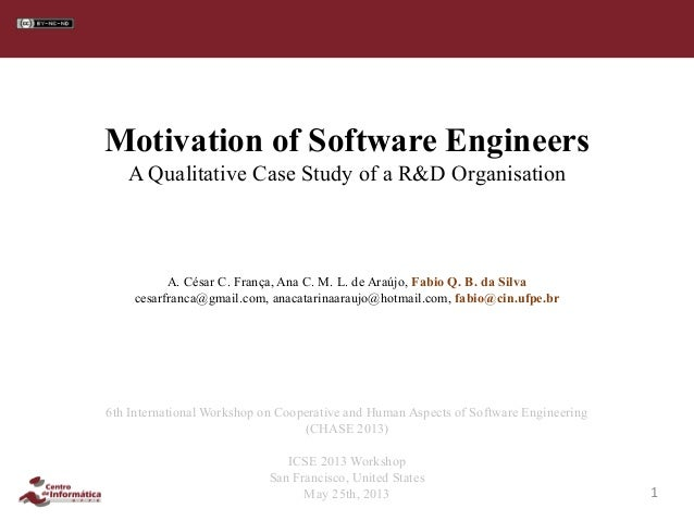Motivation case study organisation