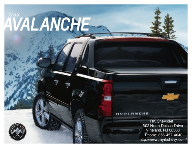 2013 chevrolet avalanche brochure south jersey chevrolet dealer. Black Bedroom Furniture Sets. Home Design Ideas