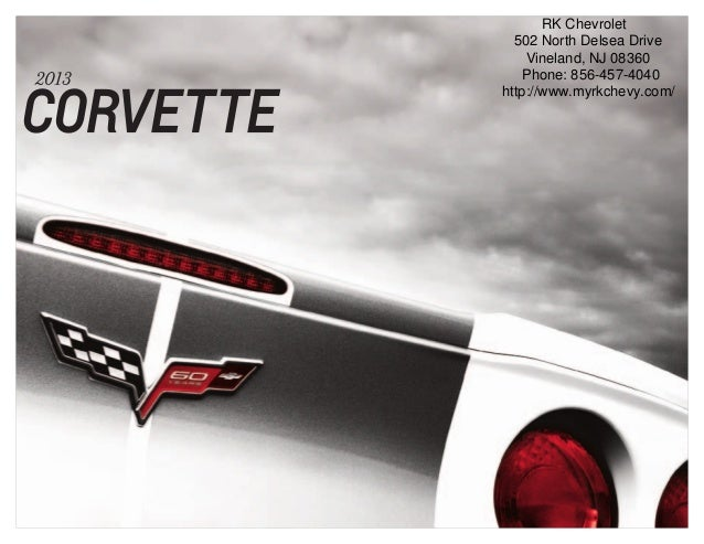 Gary Lang Auto >> 2013 Chevrolet Corvette Brochure | South Jersey Chevrolet ...